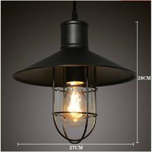 Hot Sale RH LOFT Retro Vintage Industrial Edison droplight dining-room wrought iron cage european-style Ceiling lamp lantern(China (Mainland))