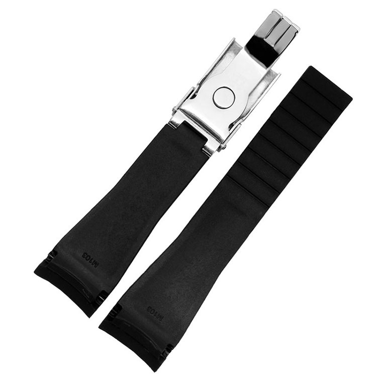 20mm silicone rubber strap for O Y STERFLEX Watchband Deployment clasp buckle for Rolex watch submarine(China (Mainland))