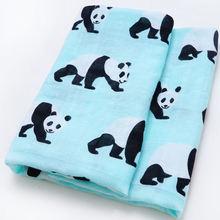 De algodón orgánico bebé recién nacido bebé manta bebé muselina Swaddle Wrap bebé alimentación eructo tela toalla pañuelo chico cosas ropa de cama conjunto(China)