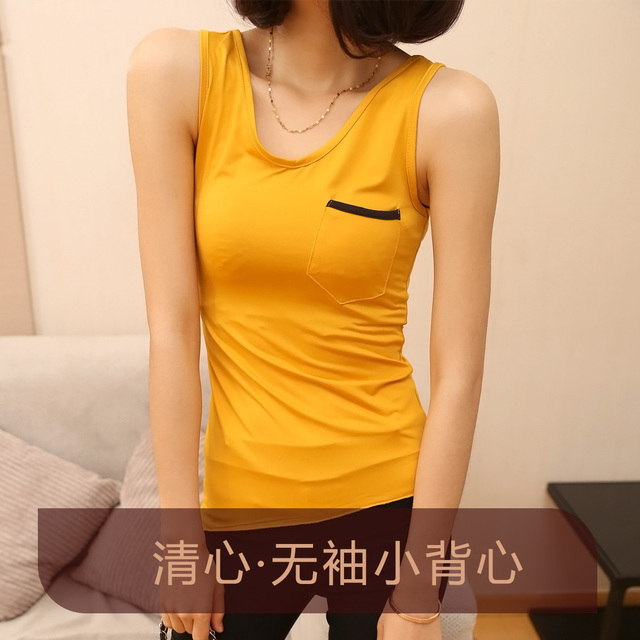 Fashion 2013 women's spaghetti strap vest all-match small vest slim basic sleeveless female summer