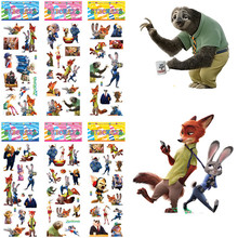 6 sheets 3D anime zootopia stickers PVC bubble puffy reward children cartoon kawaii animal stickers