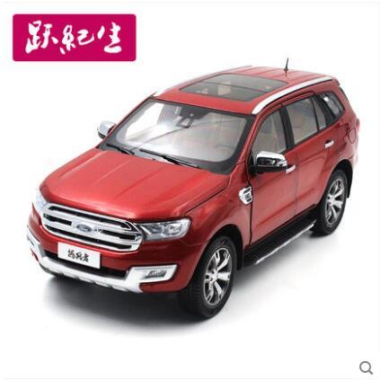 Фотография New Ford Everes 1:18 SUV car model alloy diecast Collection Red original JMC U375 JEEP boy gift hot sale
