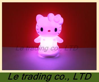 10 PCS Colorful kitty cat small night light B-004  free shipping