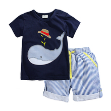 Buy Brand Summer Boys Clothing Set 100% Cotton Cartoon T-shirts Shorts Children Clothes Sets 2-7 Years Kids Baby Boys Sport Suit for $11.82 in AliExpress store