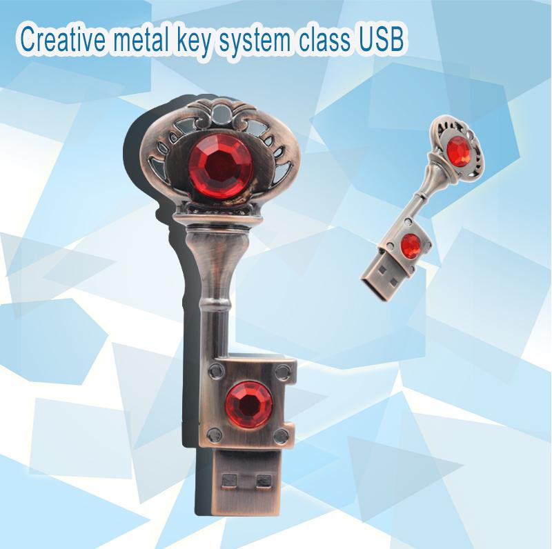 USB Flash Drive Metal Pure Copper Heart Jewelry Key Gift mini USB stick Key Genuine pen drive 4gb 8gb 16gb 32gb memory Stick(China (Mainland))