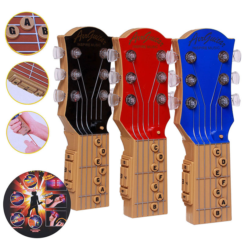 2015 new arrival Air Guitar Electric Toy Music Instrument Guitar Infrared Rhythm Inspire Music Mini Electronic Air Rock Star(China (Mainland))
