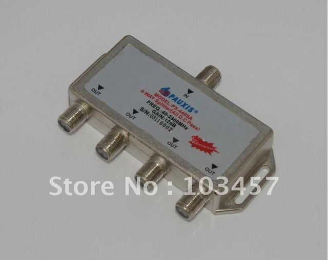 Free shipping, SAT 4Way Splitter,  all D.C pass, PX-4488A, Satellite FAT TV Accessory