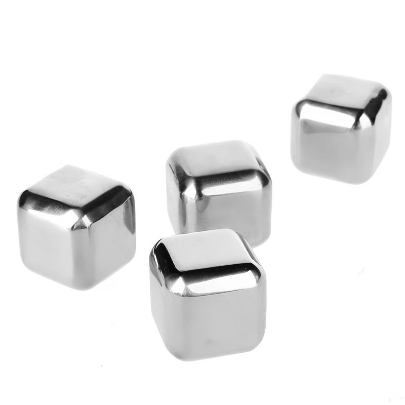 4 Pcs 304 Stainless Steel Whiskey ice Whiskey Stones Bars Cooling Tools Home font b Kitchen