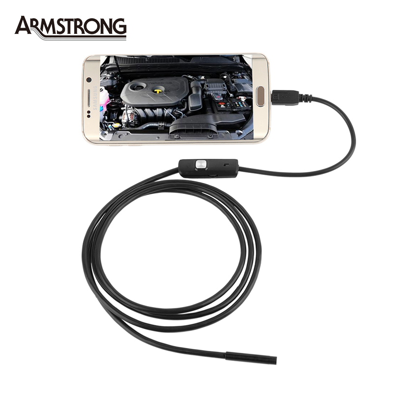 2M Endoscope For Android Phone With OTG 7mm lens inspection Pipe ,IP67 Waterproof  Side mirrors 130W 720P HD micro USB Camera<br><br>Aliexpress