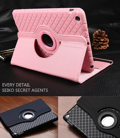 2015new Flexible Detachable Fashion Ultra Thin Flip Leather 360 Rotating Cases Smart Stand Leather Cover for apple ipad mini 123(China (Mainland))