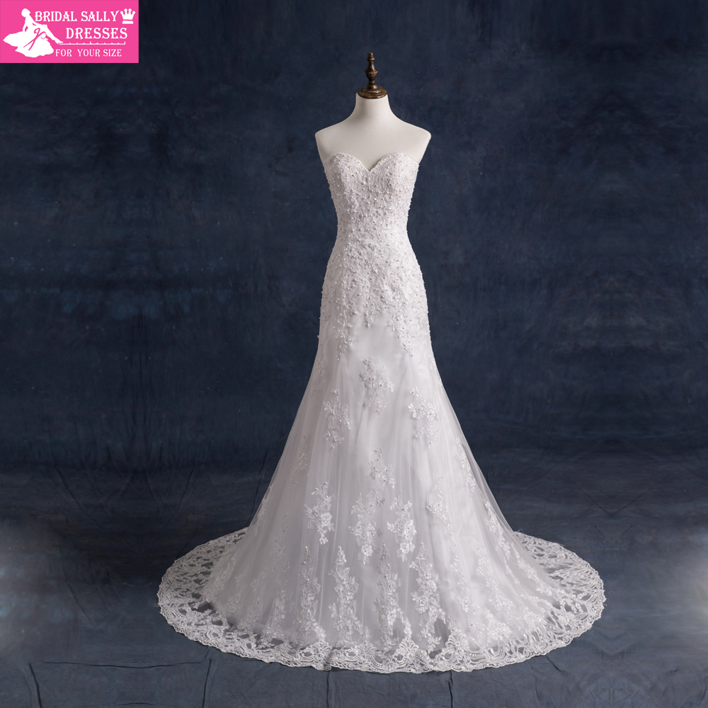 Buy mermaid wedding dresses with jacket for Vintage beaded lace wedding dress