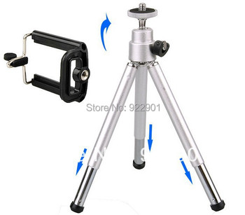 Hot Sale Mini Tripod Stand Holder for Mobile Cell Phone Camera iPhone 4 4g 5 5G Samsung galaxy S2 S4 i9200 I9500