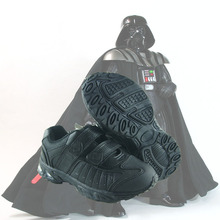 Star wars 2015 black PU leather flashing light sole boys sneaker autumn winter casual cosplay shoes D1217
