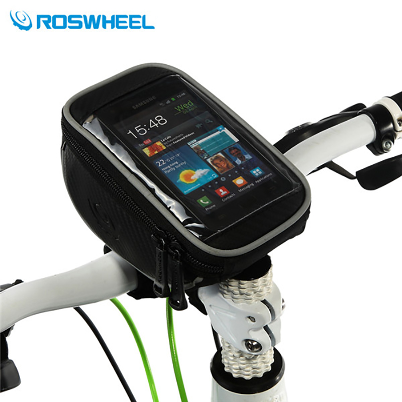 "ROSWHEEL Bike Bag PVC High Sensitive Touch Screen Sport MTB Road Cycling Bicycle Handlebar Bag For 4.2"" 5.0"" 5.5"" Cell Phone(China (Mainland))"