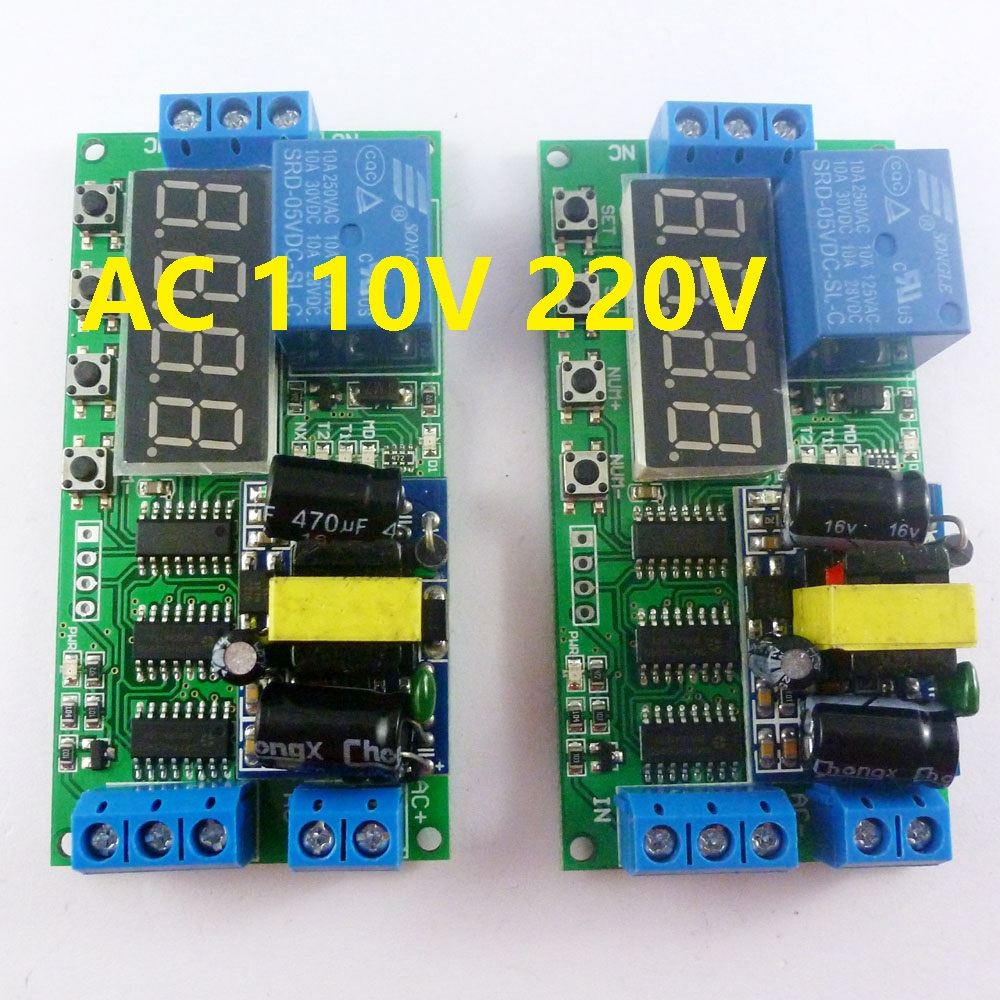 2pcs AC 85V-260V 110V 220V Cycle Time Timer Switch Delay Relay ON OFF for LED Smart Home PLC Light security monitor(China (Mainland))