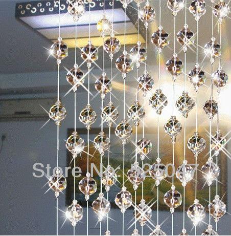 cristal perles de rideau pour la partition porte d 39 entr e d coration de la maison rideaux en. Black Bedroom Furniture Sets. Home Design Ideas