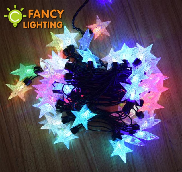 5M/50LED Beads Colorful starry LED String lights 110V/220V christmas lights LED string lamp for house/roof/tree/party decoration<br><br>Aliexpress