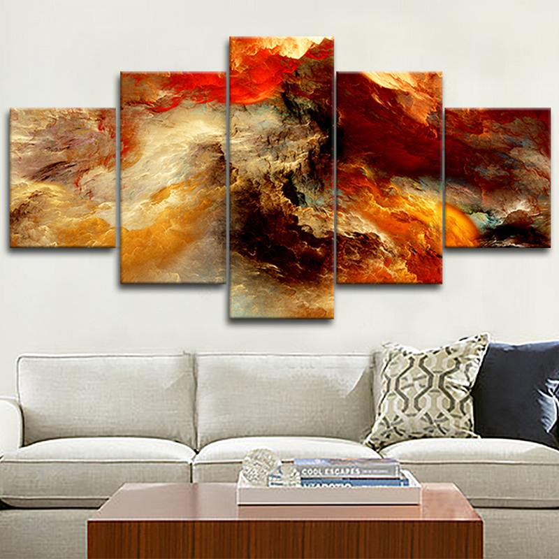 Unframed abstract oil painting pictures for home decor Abstract space star oil painting on cavnas decorative painting(China (Mainland))