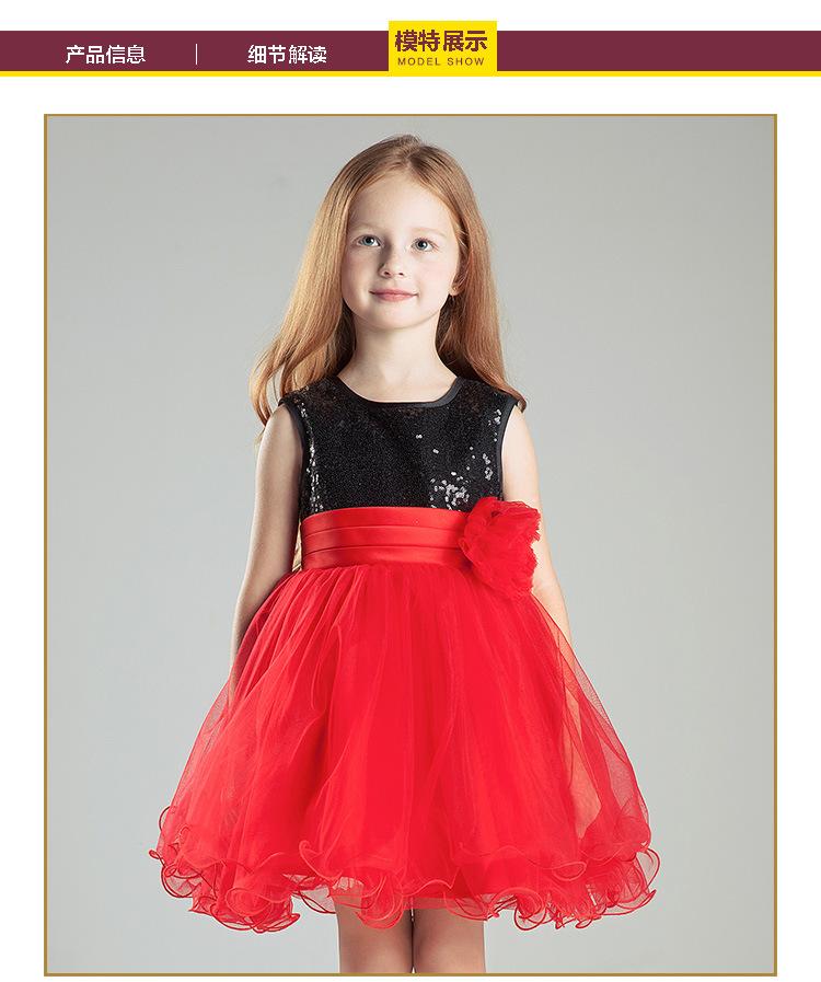 2016 Elegant Flower Girls Dresses Jewel A line Floor Length with Sequin Bow Lovely Dresses<br><br>Aliexpress