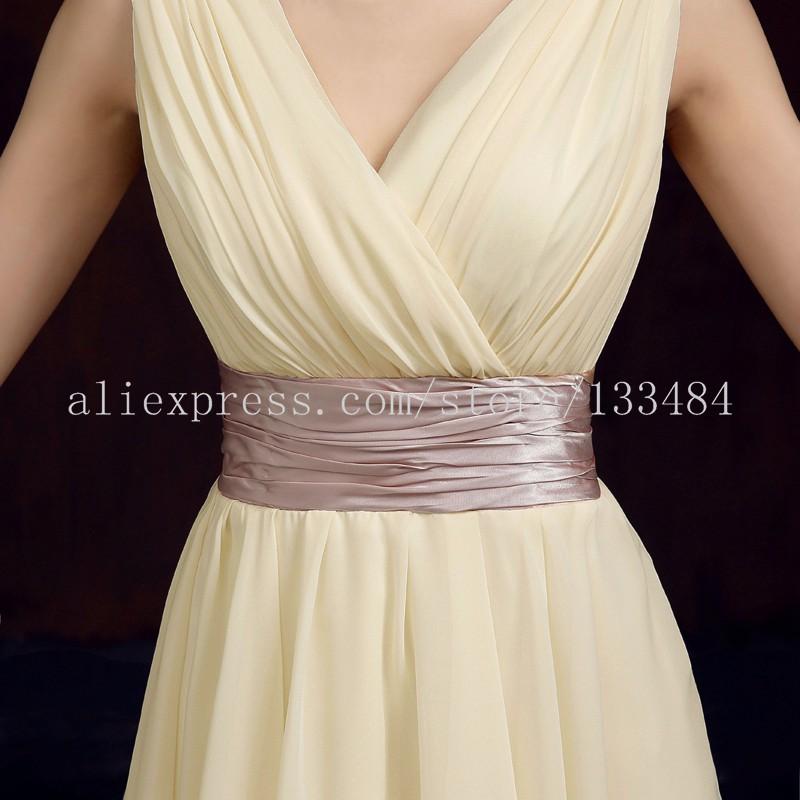 Короткие Коктейльные Платья Двухместный Наплечники V-образным Вырезом Шифон Лето Стиль Платье