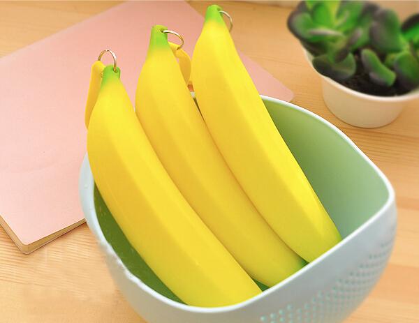 Каваи банан мода силиконовые кошелек подарок детские кошельки мини-coin молнию Bolsa Moeda BB126-SZ +