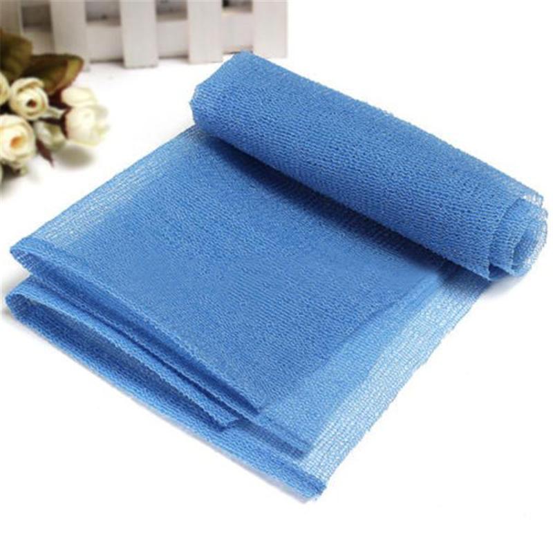 2016 New Blue Bath Shower Body Skin Washing Scrubbing Exfoliate Puff Mesh Nylon Towel Cloth