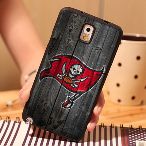 Tampa bay buccaneers Printed Black TPU Phone Cases For Samsung S3 S4 S5 S6 S6 edge S7 S7 edge Note 2 Note 3 Note 4 Note 5 Cover(China (Mainland))