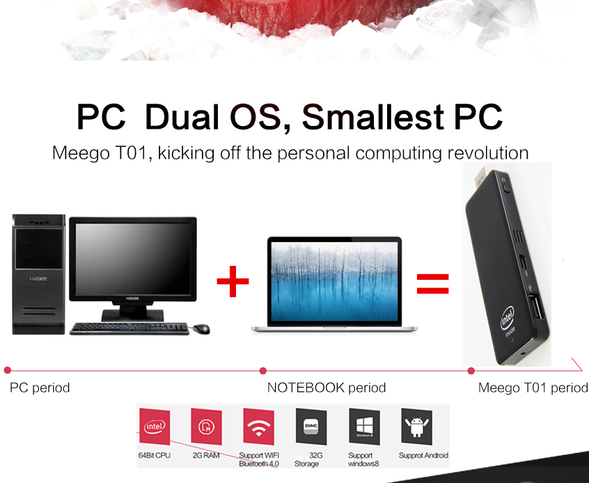 2015 smallest Computer Mini PC Windows 8.1 Quad-Core CPU 64 Bit ,2GB RAM, 32GB Storage,TV Stick nettop mini computer thin client(China (Mainland))