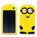 Glylezee Real 8000mAh Solar Power Bank Minions Cartoon Portable Mobile Charger Emergency External Battery
