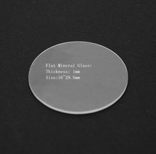 Free Shipping 1pc of Flat Mineral Watch Glass/Crystal 1.0mm Thick 16~29.5mm Size for Watch Repair(China (Mainland))