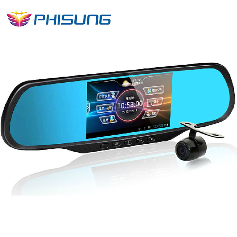 2014 Phisung Android Mirror Car Camera Recorder+GPS Navigation+Bluetooth