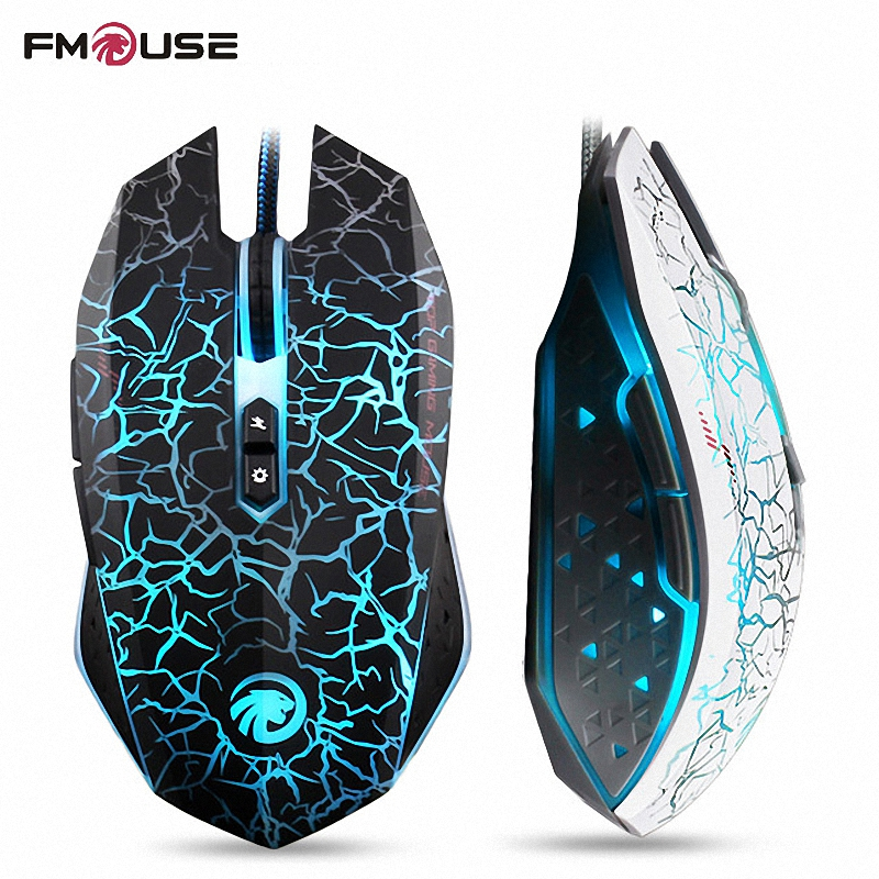 High Quality Original FMOUSE Professional Gaming Mouse 800/1200/1600/2400 DPI 7 Colour Dazzle Light Wired Mouse For Pro Gamer(China (Mainland))