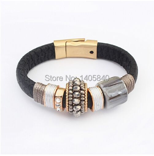 Loom Bands Bracelet Real 2015 New Products Sell Like Hot Cakes Fashion Charm Leather Bracelets Women Handmade Sale Pulseras(China (Mainland))