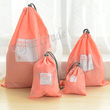 Hot 4pcs/lot Waterproof Storage Bags For Travel Shoe Laundry Lingerie Makeup Pouch For Cosmetic Underwear Organizer AIA00081-6