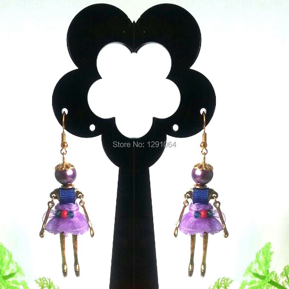 2014 Fashion New Arrival PARIS Handmade Anti Silver Doll Earring Genius Dancing Earring for wholesale with MOQ 120pcs<br><br>Aliexpress