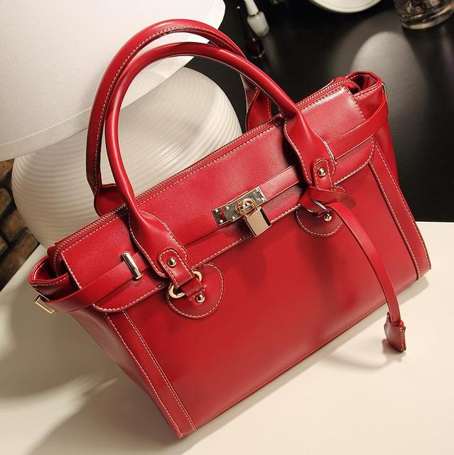 2013 lockbutton platinum bags fashion strap decoration fashion vintage elegant handbag, one shoulder cross-body women's handbag,