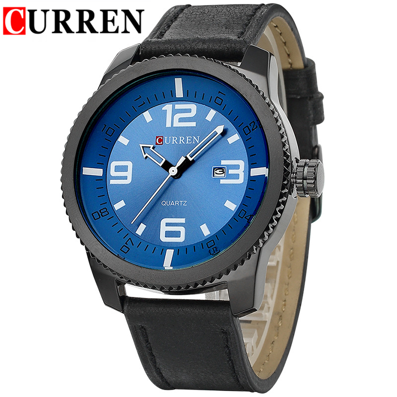 Men's Luxury Brand Watches Curren Men Casual Watch Fashion Calendar Sports Watches Man Quartz-Watch Male Dress Clocks Hours 2016(China (Mainland))