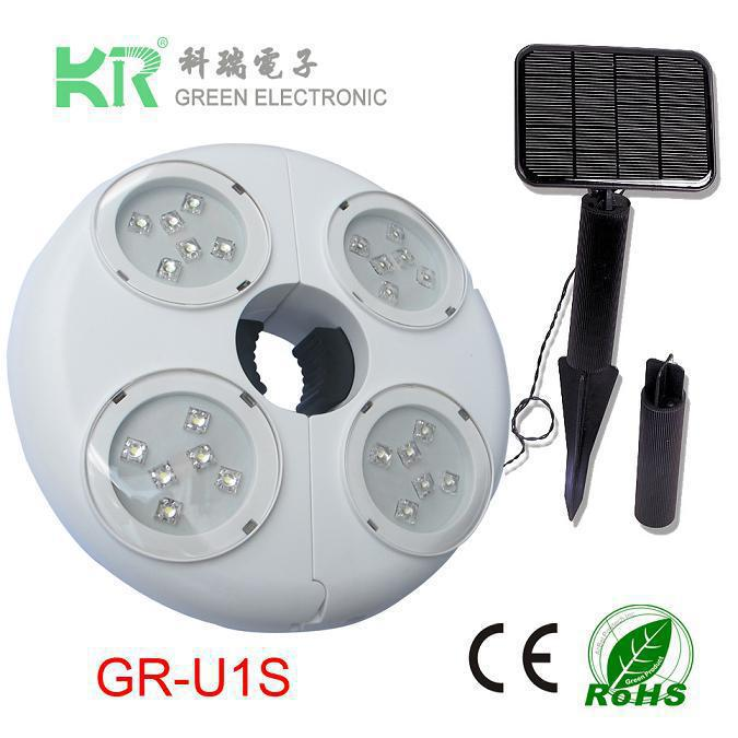 Best New 24LED outdoor sun umbrella lights 36 light beads tent 24 LED Umbrella Light for Outdoor Usage(China (Mainland))