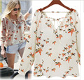 2016 Fashion Brand Designer Blouse Shirt Women Vintage Summer Cool Long Sleeve Casual Shirt Chiffon Female