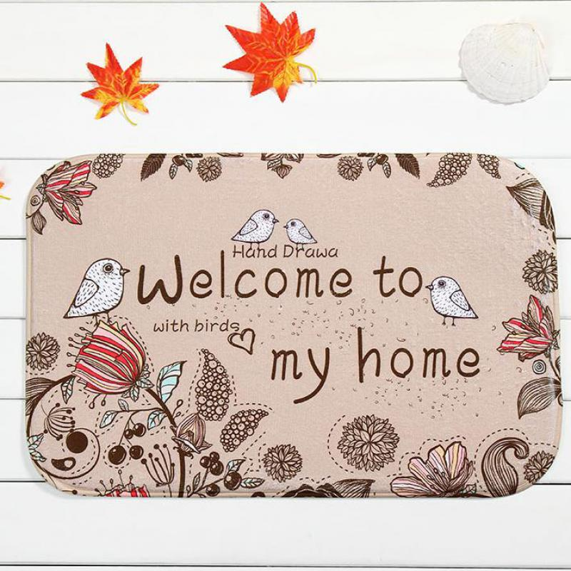 Manufacturers Wholesale Customized Romantic Text Welcome To My Home Rectangular Carpet Entrance Indoor Outdoor Floor Mats(China (Mainland))