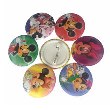 4Pcs / Lot Toy Kids Cartoon Mickey Minnie Action Figure Brooch 3CM Gift Cosplay School Prizes Children Toy Medal Baby Anime Toy