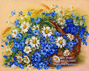 New Needlework Resin Diamond Embroidery basket of flowers Diy Diamond Painting Rhinestones Full Drill Diamond NW322