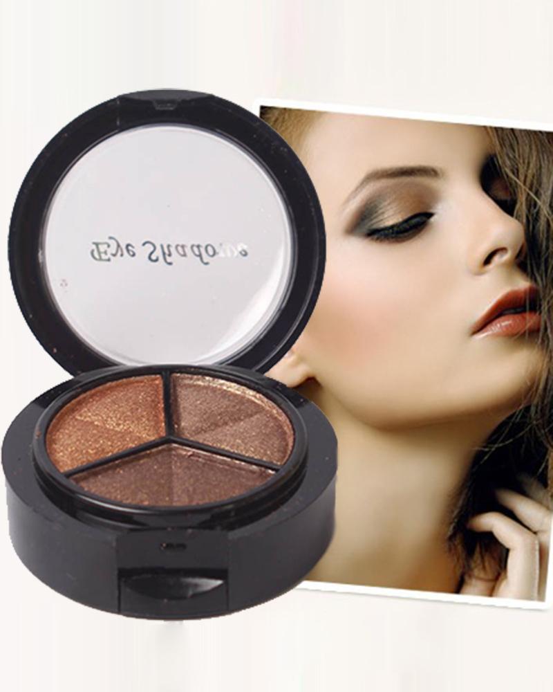 Cosméticos 3 cores de sombra natural matte sombra maquiagem profissional paleta nu nua sombra de olho brilho M01348