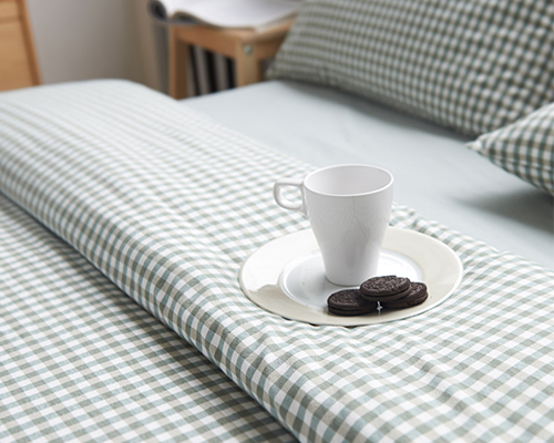 What left / export trade of high-quality cotton boys plaid Japanese minimalist stripe bed enterprises bed for a family of four(China (Mainland))