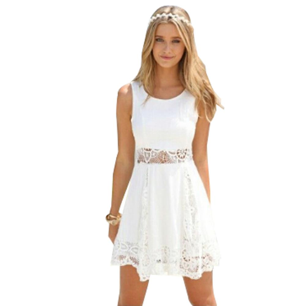 2015 elegant women summer white dress casual dresses vestidos femininos vintage lace dress mini. Black Bedroom Furniture Sets. Home Design Ideas