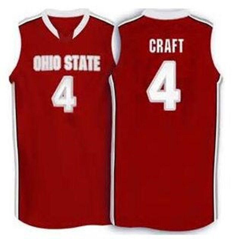 #4 Aaron Craft Ohio State Buckeyes basketball Jersey white red Embroidery Stitched Custom any Number and name Jerseys(China (Mainland))