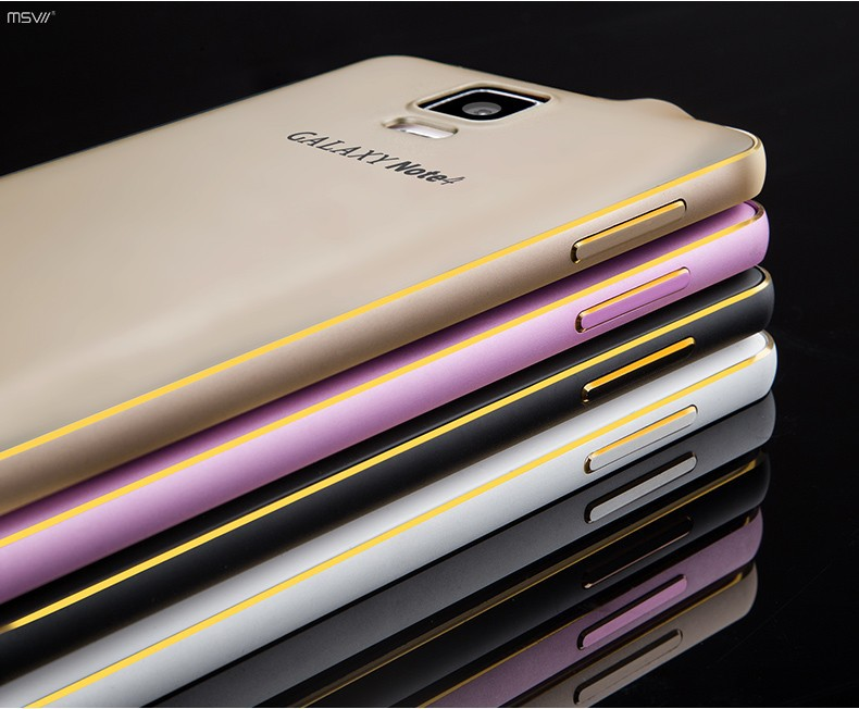 note 4 gold edge bumper+cover-6