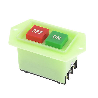 Light Green Plastic Housing On-Off DPDT 6-Pin Push Button Switch 220/380V 5A<br><br>Aliexpress