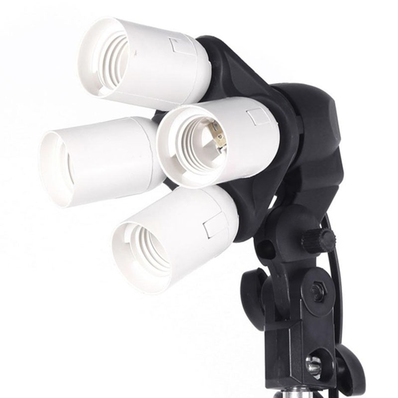 Top 2016 New Lighting Light 4 in 1 E27 Base Socket Light Lamp Bulb Holder Adapter for Photo Video Studio Softbox(China (Mainland))