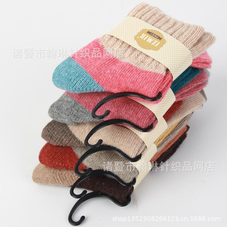 2014 Izmir Style Cute Soft Warm Wool&Cony Women Socks 5 pairs/lot(China (Mainland))